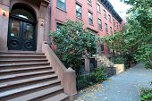 picture of brownstone  - Brooklyn Heights is one of Brooklyn - JPG