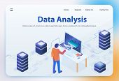 Data Analysis. Big Data Analyzing. Financial Analytics And Statistic. Analytics And Digital Technolo poster