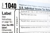 image of lien  - Tax Form 1040 with DOF  - JPG