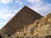Постер, плакат: Пирамиды Хеопса в Гизе недалеко от Каир Египет