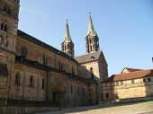 stock photo of regnitz  - Cathedral in Bamberg - JPG