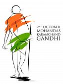 India Background With Nation Hero And Freedom Fighter Mahatma Gandhi For Independence Day Or Gandhi  poster