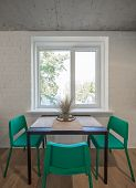 Kitchen Area In Studio Apartments. The Kitchen And Dining Room In A Modern Apartment. poster