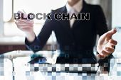 Blockchain Technology Concept. Internet Money Transfer. Cryptocurrency. poster