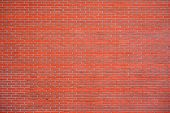 Red Brick Wall For Background Or Texture. Old Red Brick Wall Texture Background poster