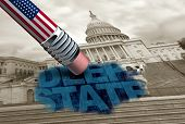 United States Deep State And American Secret Politics Concept And United States Political Conspiracy poster