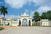 pic of saracen  - North gate of Mysore Maharajah - JPG