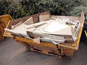 foto of dumper  - Dumper for construction and demolition material debris - JPG
