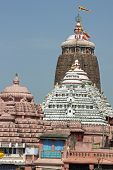 image of jagannath  - Sacred Hindu temple (Jagannath Temple). Puri Orissa India. 12th Century AD