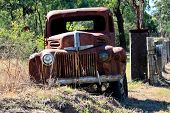Rusty pick up truck