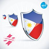 I Love Philippines Flag Illustration