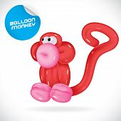 Balloon Monkey Illustration
