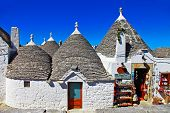 picture of conic  - Unique Trulli houses with conical roofs in Alberobello - JPG