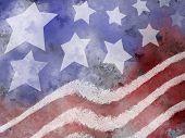 Постер, плакат: Американский флаг