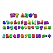 picture of nouns  - vector fridge magnet alphabet spelling abc letters and numbers illustration - JPG