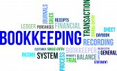 picture of receipt  - A word cloud of bookkeeping related items - JPG