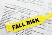 Fall Risk With Hospital  Paperwork