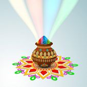 image of rangoli  - Indian festival Happy Holi celebrations concept - JPG