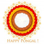 stock photo of pongal  - illustration of Happy Pongal greeting background - JPG
