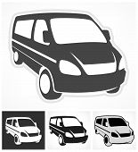 foto of moving van  - Set of vans on white design element vector illustration - JPG