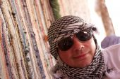 Tourist In Arabic Kerchief