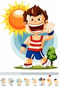 Sunny. Weather Icon poster