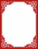 image of scrollwork  - Romantic scrollwork frame for Valentines Day with leaf scrolls and copy space - JPG