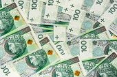 picture of zloty  - Background of 100 PLN  - JPG
