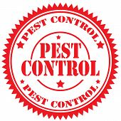 pic of pest control  - Red rubber stamp with text Pest Control - JPG