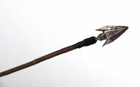 pic of arrowheads  - arrowhead with a forged iron head with barbs photographed against a white background - JPG