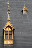 image of hospice  - Roof of Hospices de Beaune in Burgundy - JPG