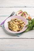 picture of sauteed  - fillet fish with sauteed artichoke - JPG
