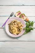 foto of sauteed  - fillet fish with sauteed artichoke - JPG