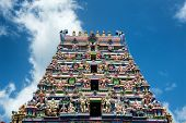 stock photo of vinayagar  - Famous Architectural Arul Mihu Navasakthi Vinayagar Hindu Temple at the Street Side of Victoria - JPG