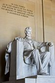 image of abraham  - Abraham Lincoln statue at the Lincoln Memorial - JPG