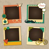 image of decorative  - Decorative template frame design for baby photo and memories - JPG