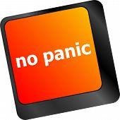 image of panic  - No panic key on computer keyboard  - JPG