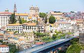 picture of dom  - Dom Luiz bridge in Porto Cityscape Portugal - JPG