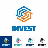 stock photo of logo  - Invest  - JPG