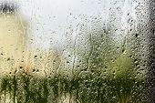 pic of rain-drop  - Rain drop on the window - JPG