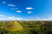 foto of chocolate hills  - Bohol Chocolate Hills natural landmark in Philippines - JPG