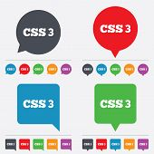 picture of bubble sheet  - CSS3 sign icon - JPG