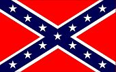 stock photo of flag confederate  - The flag of the confederates during the American Civil War - JPG