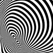 Постер, плакат: Design Monochrome Whirlpool Movement Illusion Background