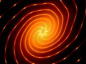 stock photo of fieri  - Glowing fiery spiral technology computer generated abstract background - JPG