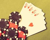picture of flush  - The Royal Flush on table - JPG