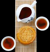 foto of mid autumn  - Mooncake and teaChinese mid autumn festival food - JPG