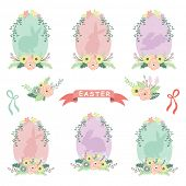 pic of baby easter  - Floral Easter Eggs - JPG