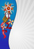 Постер, плакат: Holiday Background On Victory Day Or Defender Of The Fatherland Day