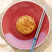 stock photo of mid autumn  - Mooncake - JPG